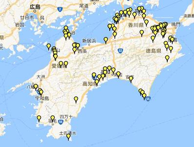 88 箇所 地図 四国